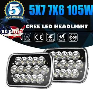 7x6 5x7 105w Cree Led Headlight Pair High Low Beam Sealed Truck Hid Xenon Usa