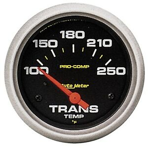 Auto Meter 5457 2 5 8in Pro Comp Trans Temp Gauge 100 250