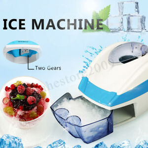Electric Ice Crusher Shaving Ice Shaver Snow Cone Machine Party Ice Maker