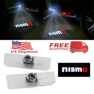 2pcs Nismo Car Doors Light For Nissan Led Logo Projector Shadow Laser Lights Us