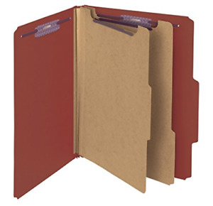 Press Board Classification File Folder Safe Fasteners Red Patented Coated Paper