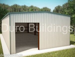 Durobeam Steel 30x40x22 Metal Red Iron Building Barn Kit Machine Shed Direct