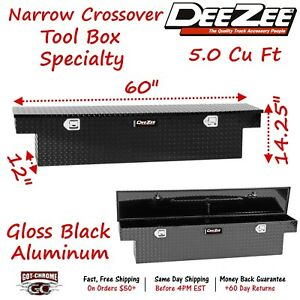 Dz 6160nb Dee Zee Tool Box Narrow Crossover Black Tread Aluminum Mid Size Truck