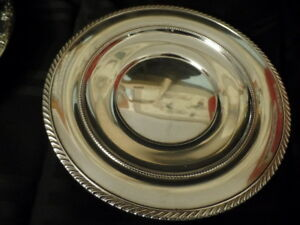 Gorham 8 3 4 Round Sterling Silver Gadrooned Edge Tray