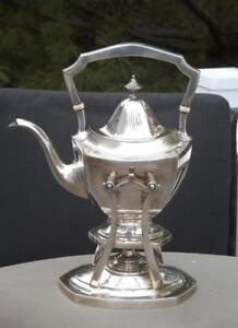 International Sterling Trianon Sterling Silver Water Kettle Stand With Burner