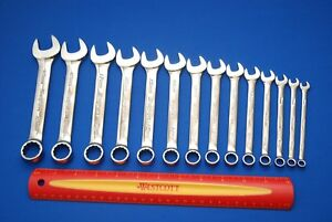 New Snap on 14 Piece Metric 12 point Short Combo Wrench Set Oexsm714k Ships Free