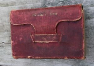 Antique 1848 Red Leather Pocket Old New Testament Bible