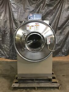 2007 Milnor 100 Lb Washer Extractor V5j High Extract E p Plus 208 240 Volt