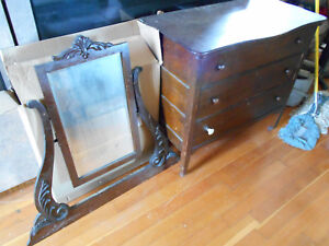 Antique Dresser With Beveled Mirror Good Condtion For 100 Yrs Old