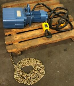 Demag 2200lbs Electric Chain Hoist never Used
