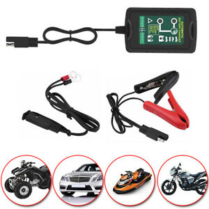 6v 12v 1 5a Smart Battery Charger Maintainer Tender For Car Motorcycle Truck Usa
