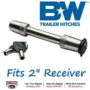 Ts51234 B w Stainless 5 8 Locking Pin For 2 Trailer Receiver Hitch