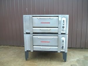 Blodgett 1000 Natural Deck Gas Double Pizza Oven With Brand New Stones 120k Btu