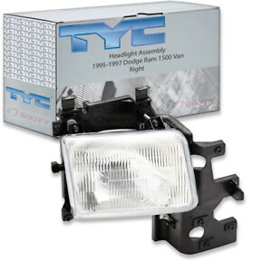 Tyc Right Headlight Assembly For 1995 1997 Dodge Ram 1500 Van Jl