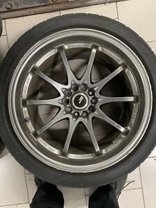 Rays Volk Racing Ce28n 18x10 5 5x114 3 18mm With Nitto Tires