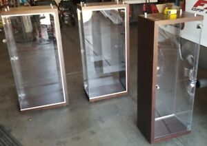 Wall Trophy Display Showcase 40 tall X 47 Wide Plexi Back Case Hanging 2 Avail
