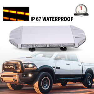 27 Led Strobe Light Bar Emergency Warning Flash Directional Roof Amber 168w