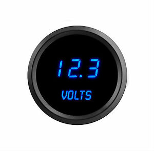 52mm 2 1 16 In Digital Voltmeter Intellitronix Blue Leds Black Bezel Warranty Us