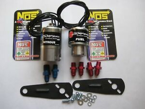 Nos Nx Holley Sniper Cheater Nitrous Fuel Solenoids W Brackets Fittings 250hp