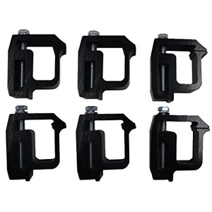 Ifjf Mounting Clamps Truck Caps Camper Shell Powder coated Fit Chevy Silverado 6