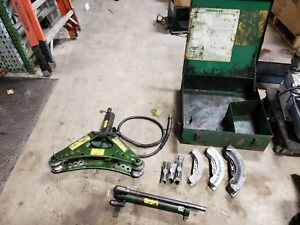 Greenlee 880 Hydraulic Bender 1 2 To 2 One shot Complete Works Great b6f