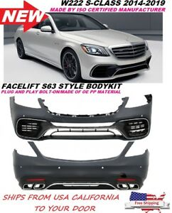 Mercedes Benz W222 S Class Amg Style 2018 S63 S65 Bodykit Front Rear Bumper