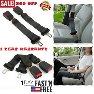 2pcs Universal Safety Seatbelt Extender Extension Auto Car Seat Lap Belt 14 Inch