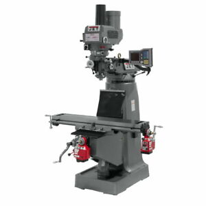 Jet 690009 Jtm 4vs Mill With X And Y axis Powerfeeds With Power Draw Bar