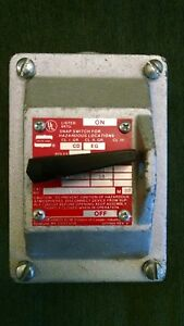 Crouse Hinds Efs1129 Explosion Proof Snap Switch New