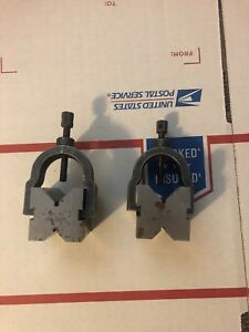 Lufkin No 905 V blocks With Clamps Machinist Toolmaker Tools