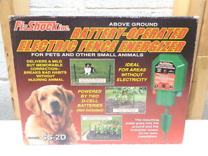 Fi shock Battery operated Electric Fence Energizer ss 2d new