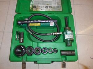 Greenlee 7306 Hydraulic Knockout Punch Set 1 2 To 2 Punches 767 Pump 746 Ram