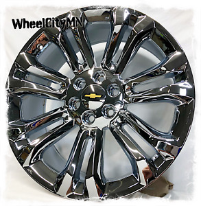 22 Inch Chrome Chevy 2016 Tahoe Ltz Silverado Oe Replica Wheels 5666 6x5 5 24