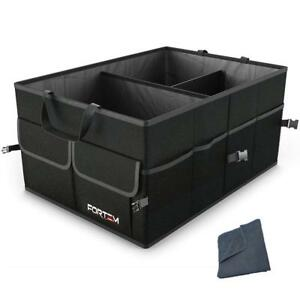 Fortem Car Trunk Organizer For Suv Truck Auto Durable Collapsible Cargo