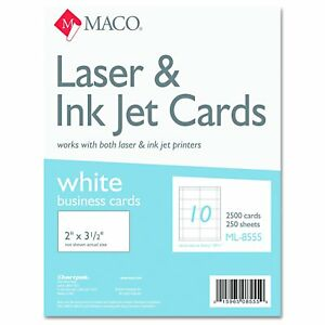 Maco Ml8555 Microperforated Business Cards 2 X 3 1 2 White box Of 2500