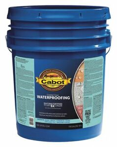 Cabot Flat Sealer For Brick Concrete Stone Wood Crystal Clear 5 Gal 5 Gal