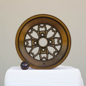 4 Rota Wheel Aleica 15x8 4x114 3 0 Speed Bronze Datsun Corolla