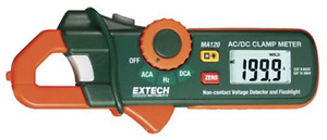 Extech Ma120 Mini 200 Amp Ac dc Clamp on Current Detector