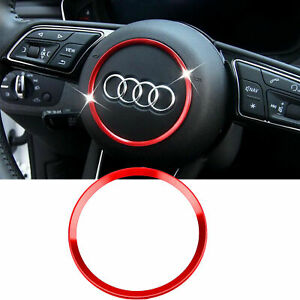 Red Steering Wheel Ring Sporty Interior Decor Trim For Audi A3 A4 A6 Q3 Q5 S5 S6