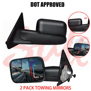 Left right 02 08 For Dodge Ram 1500 03 09 2500 3500 Tow Extend Side View Mirrors