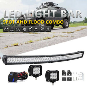50inch Curved Led Light Bar Upper Roof W Wiring For 93 98 Jeep Cherokee Zj Grand