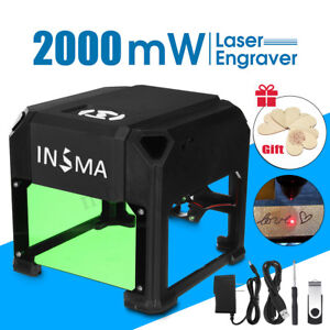 2000mw Usb Laser Engraver Printer Carver Diy Engraving Cutting Machine Gift