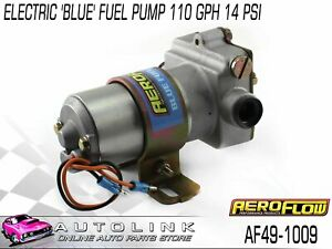 Aeroflow Af49 1009 Electric Fuel Pump 110 Gph 14psi 3 8 Npt Same As Holley Blue