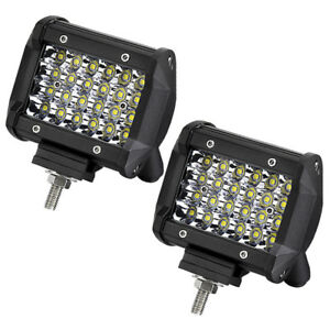 2x 4 Cube Pod Spot Led Driving Fog Lights Offroad Work Light Boat 4x4wd Car