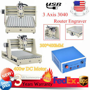Usb 3axis 3040 Router Engraver Milling Machine Wood Pcb 400w Motor 3d Cutter Usa