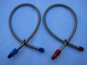 Nos Nitrous Nx Zex Holley Edelbrock 4an 3an 18 Blue Red Line Hose Kit New Lqqk