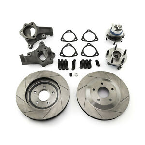 Gm C5 Corvette 13 Drilled Slotted Front Disc Brake Conversion Kit Cal