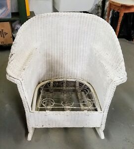 Antique Vintage Wicker Rocking Chair Well Made And Sturdy Nursery Decor