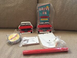 Vintage Ford Mustang Napkin Holder Paper Towel 4 Coasters 3 Items New Retro