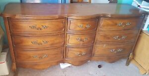 Vintage Antique French Provincial Dresser Chest And Nightstand Exc Cond Broyhill